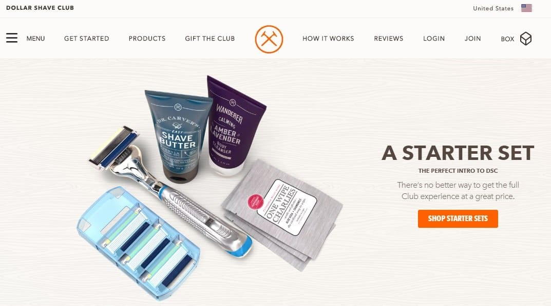 D2C ecommerce dollar shave club