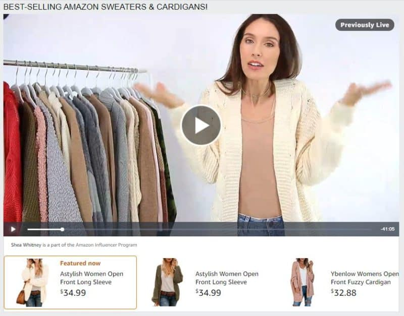 amazon live venta de productos online