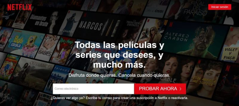 call to action ecommerce Netflix