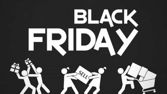 Iconos de venta en Black Friday