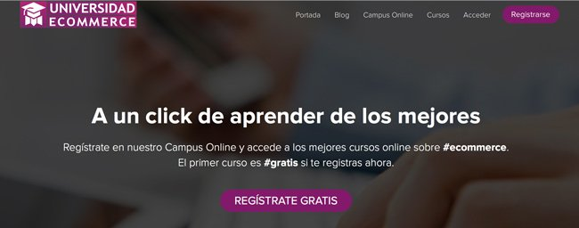 Campus Online de Universidad Ecommerce